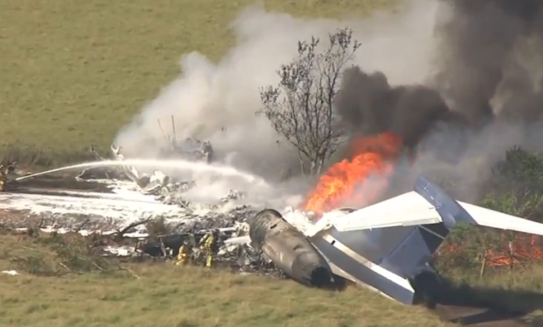 Photo of MD-87 Jet Heading to Boston Crashes, No Serious Injuries' and Casualties